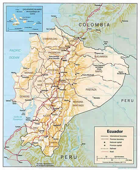ECUADOR MAP. Mapa Politico del Ecuador
